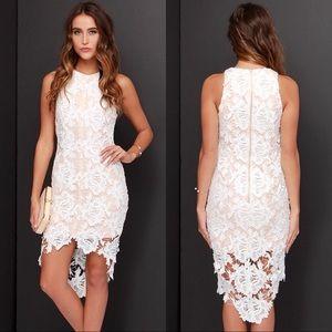 Keepsake The Label I Will Wait Ivory Lace Dress XS